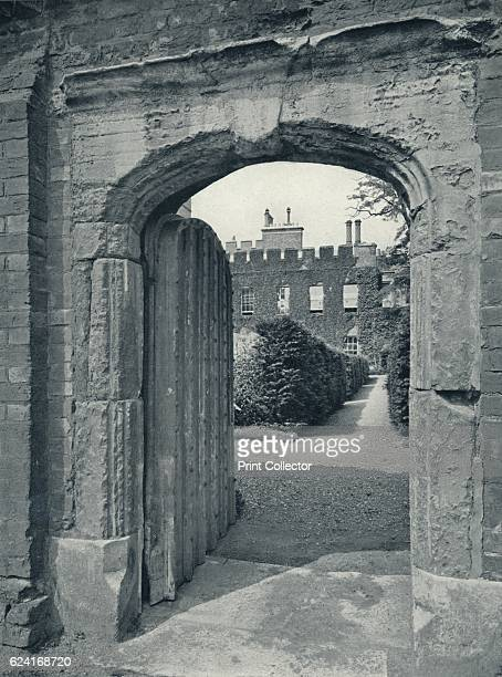 Entrance to the Provost's Lodge from Playing Fields', 1926. Eton College is a boarding independent school for boys in Eton, Berkshire, near Windsor,...