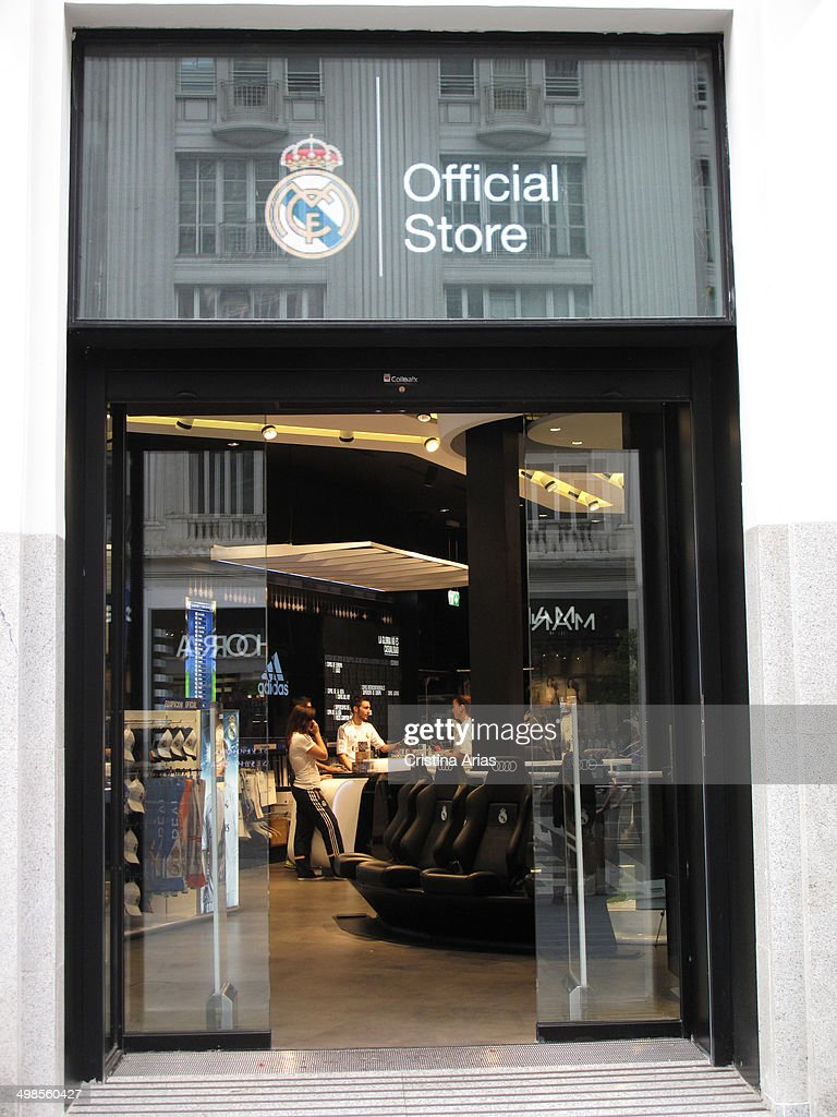 ce25d9934 Entrance to the Real Madrid Official Store in Gran Via of Madrid ...