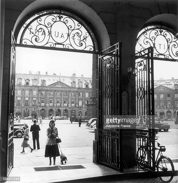 Entrance To The Restaurant Of The Ritz Hotel Place Vendome In Paris Around 1948