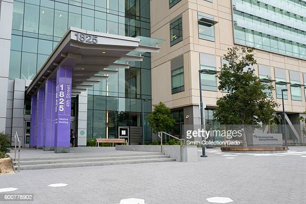 Entrance to the Ron Conway Family Medical Building at UCSF's hospital campus in the Mission Bay neighborhood of San Francisco California August 29...