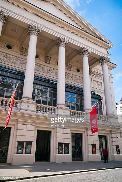 entrance to the royal opera house, covent garden - royal opera house london stock pictures, royalty-free photos & images
