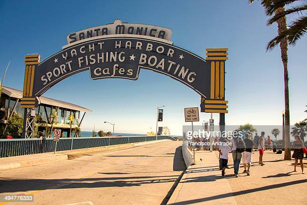 Entrance to the Santa Monica Pier Los Angeles California USA