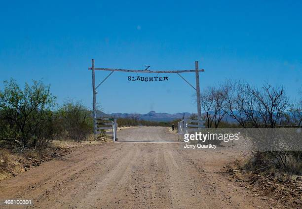 CONTENT] Entrance to the Slaughter Ranch in Arizona