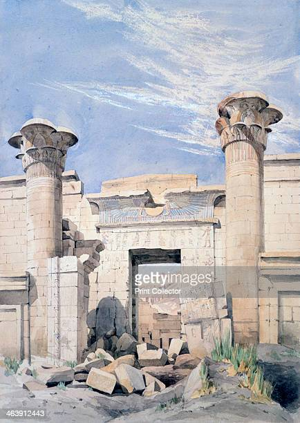'Entrance to the Temple of Ramses III', Egypt, 19th century. Rameses III ruled Egypt from 1187 until 1156 BC. He is regarded as the last great...