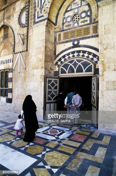 Entrance to the Umayyad Mosque or Great Mosque of Aleppo Syria 13th century