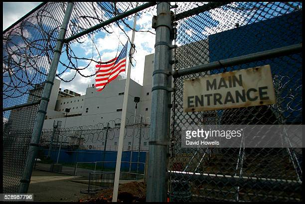 Entrance to the Vernon C Bain Correctional Center at Rikers Island in the Bronx This is the only prison bardge in the US and is anchored in the South...