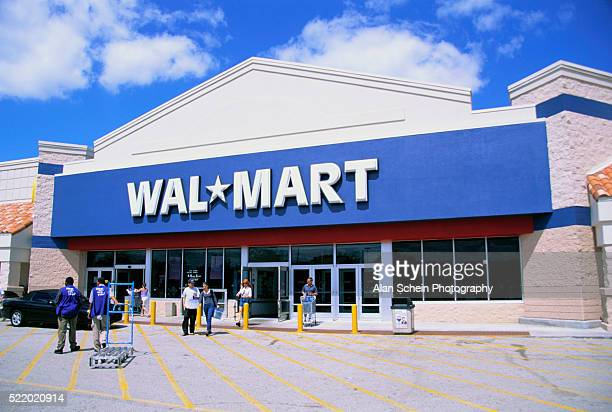 entrance to wal-mart store - wal mart stock pictures, royalty-free photos & images