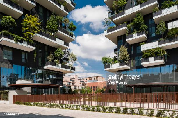 Entrance view Vertical Forest Milan Italy Architect Stefano Boeri Architetti 2014