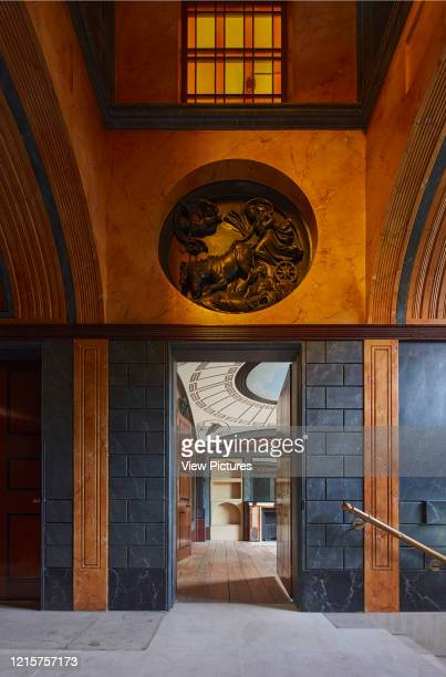 Entrance with lantern and view to breakfast room Pitzhanger Manor London United Kingdom Architect Julian Harrap Architects 2019