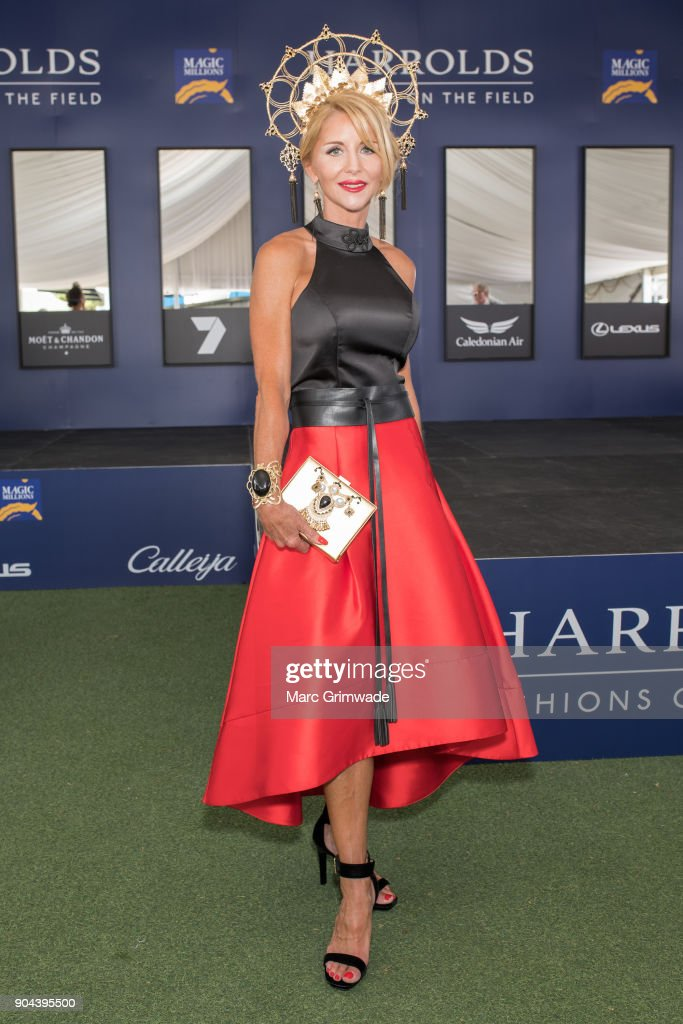 Entrant at the Fashion on the Field event, Kimberley Jull, attends the Magic Millions Raceday on January 13, 2018 in Gold Coast, Australia.