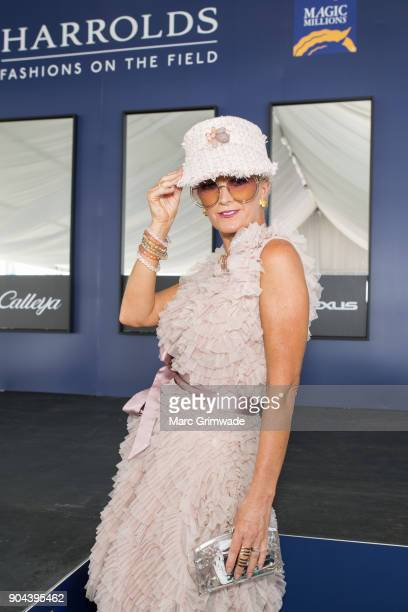 Entrant at the Fashion on the Field event Lisa March attends the Magic Millions Raceday on January 13 2018 in Gold Coast Australia