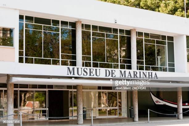 L'entrée du musée de la marine à Lisbonne au Portugal le 19 avril 2006 Ce musée est situé dans le Monastère des Hiéronymites