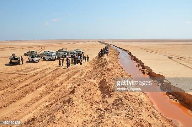 Entrenching works aimed at boosting security in Medenine town in southeastern Tunisia at the Tunisia Libya border on July 11 2015 The measures aimed...