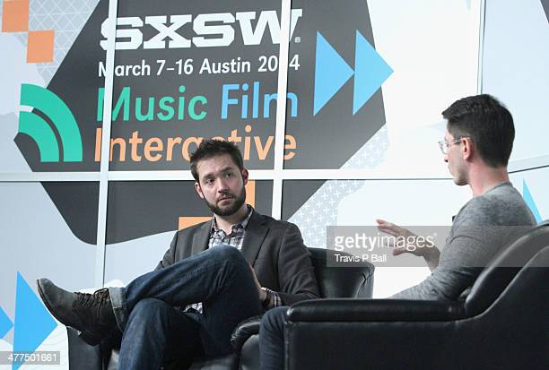 Entrepreneur Alexis Ohanian and Chrys Bader Cofounder of Secret speak onstage at 'Be Awesome Without Their Permission' during the 2014 SXSW Music...
