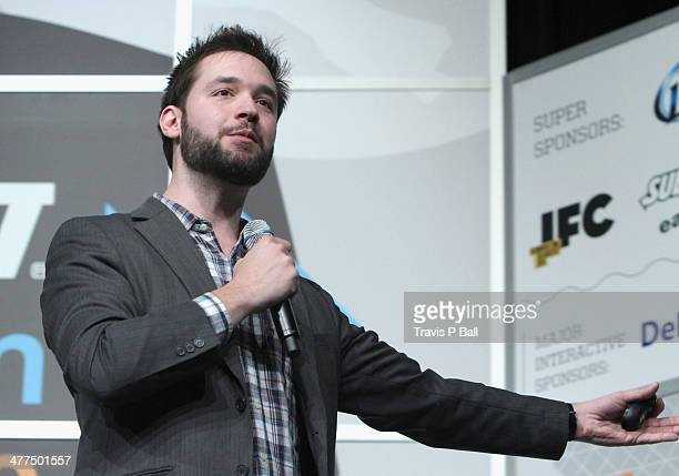Entrepreneur Alexis Ohanian speaks onstage at 'Be Awesome Without Their Permission' during the 2014 SXSW Music Film Interactive Festivalat Austin...