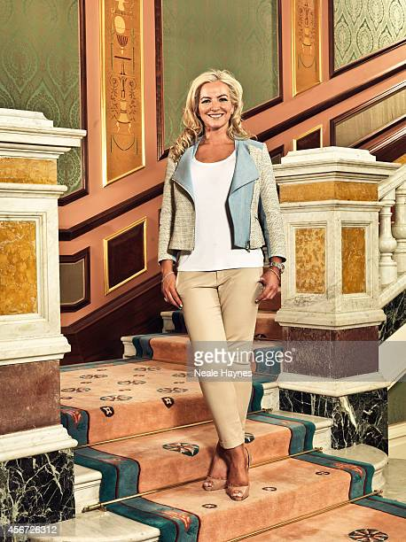 Entrepreneur and former model Michelle Mone is photographed for ES magazine on March 21 2014 in London England