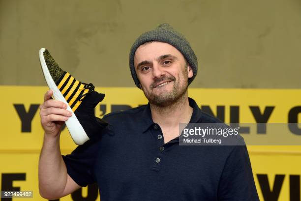 Entrepreneur and Internet personality Gary Vaynerchuk attends a popup release event for the GaryVee 001 Crushing It Gen K Limited Edition Colorway...