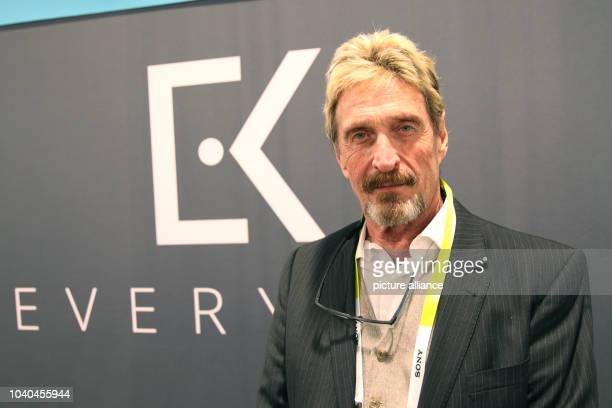 Entrepreneur and security specialist John McAfee is seen at the stand of IT company Everykey at the consumer electronics show CSE in Las Vegas, USA,...