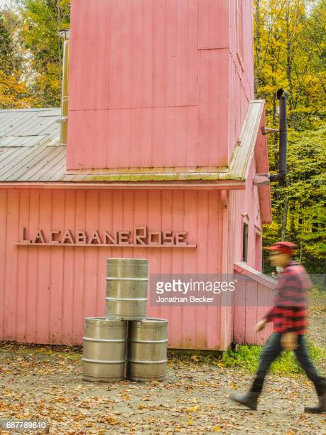 Entrepreneur and syrup producer Francois Roberge is photographed for Vanity Fair Magazine on September 12, 2016 at his sugar shack, in Lac-Brome,...