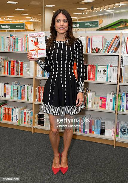 Entrepreneur Bethenny Frankel signs and discusses her new book 'I Suck At Relationships So You Don't Have To' at Barnes Noble bookstore at The Grove...