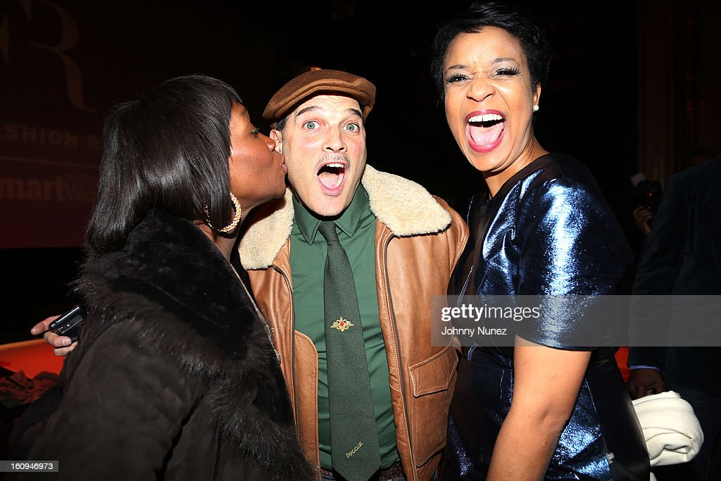 Entrepreneur Bevy Smith, stylist and TV personality Phillip Bloch, and Harlem's Fashion Row Founder and CEO Brandice Henderson attend Harlem's Fashion Row Presentation during Fall 2013 Mercedes-Benz Fashion Week at The Apollo Theater on February 7, 2013 in New York City.