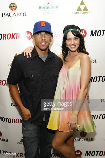 Entrepreneur Billy Dec and musician Katy Perry at the MOTOROKR Lounge at The Underground on July 31 2008 in Chicago