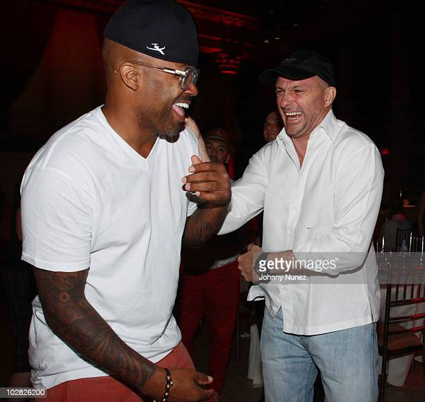 Entrepreneur Dame Dash and restauranteur Giuseppe Cipriani attend Cipriani Wall Street after the 2010 World Cup Final between Spain and Netherlands...