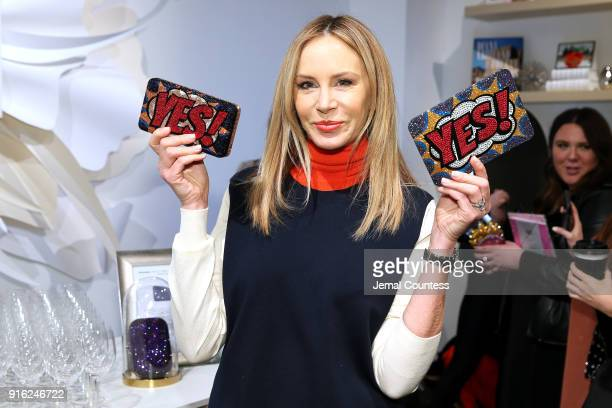 Entrepreneur Dee Ocleppo poses with Judith Leiber at the Papyrus Café during IMG NYFW The Shows at Spring Studios on February 9 2018 in New York City