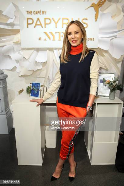 Entrepreneur Dee Ocleppo visits the Papyrus Café during New York Fashion Week The Shows at Spring Studios on February 9 2018 in New York City