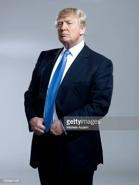 Entrepreneur Donald Trump is photographed for Bloomberg Businessweek on April 25 2011 in New York City Published Image