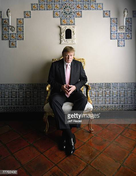 Entrepreneur Donald Trump is photographed for Esquire Magazine in 2003 in New York City