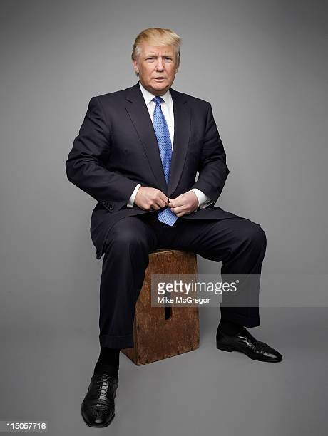 Entrepreneur Donald Trump is photographed for The London Times on May 10 2011 in New York City Published Image