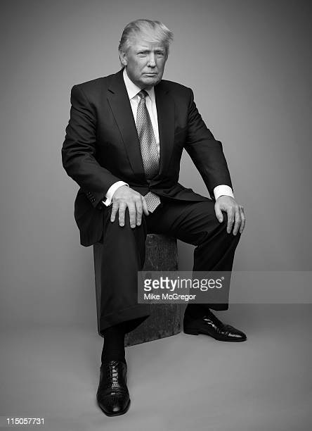 Entrepreneur Donald Trump is photographed for The London Times on May 10 2011 in New York City