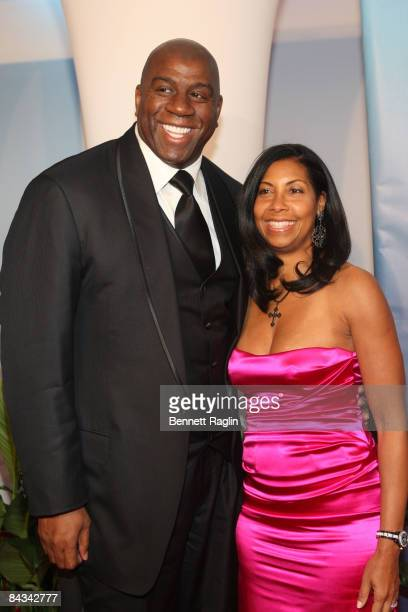 Entrepreneur Eavin Magic Johnson and wife Cookie Johnson attend the 2nd Annual BET Honors at the Warner Theatre on January 17 2009 in Washington DC