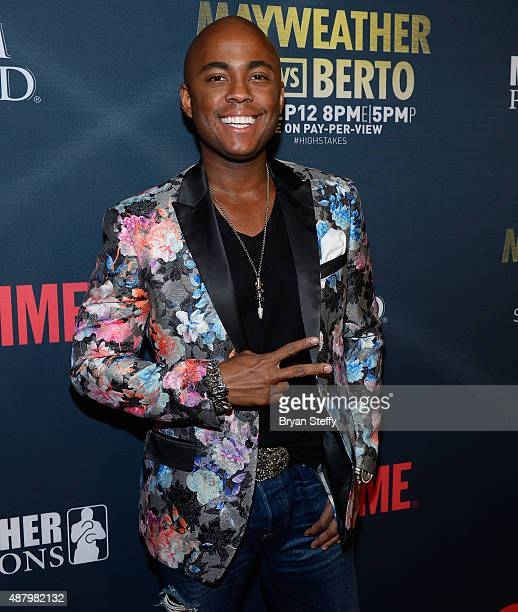 Entrepreneur Farrah Gray arrives at the VIP PreFight Party for 'High Stakes Mayweather v Berto' presented by Showtime at MGM Grand Garden Arena on...