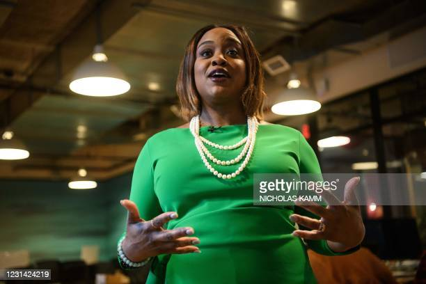 Entrepreneur Fonta Gilliam speaks to AFP during an interview in Washington, DC, on February 24, 2021. - Black entrepreneur Fonta Gilliam worked...
