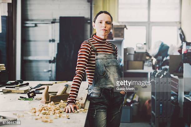 entrepreneur in carpentry. - leanincollection stock pictures, royalty-free photos & images