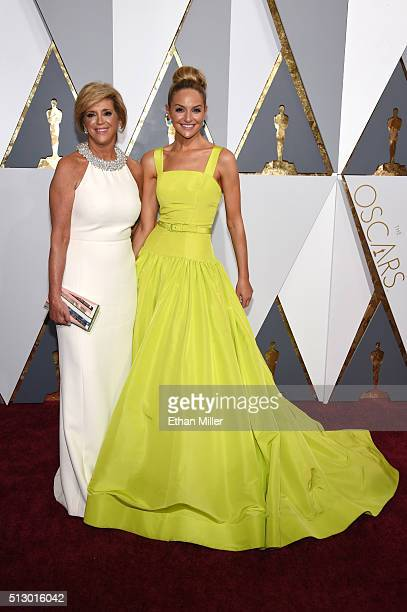 Entrepreneur Joy Mangano and Jackie Miranne attend the 88th Annual Academy Awards at Hollywood Highland Center on February 28 2016 in Hollywood...