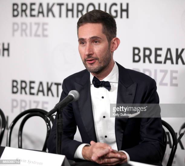 Entrepreneur Kevin Systrom attends the 2018 Breakthrough Prize at NASA Ames Research Center on December 3 2017 in Mountain View California