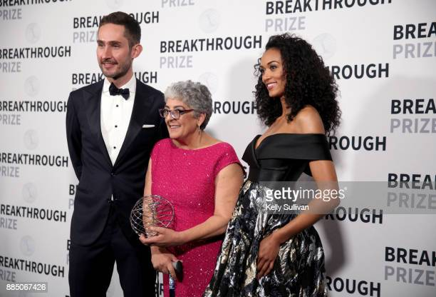 Entrepreneur Kevin Systrom Breakthrough Prize in Life Sciences Laureate Joanne Chory and physical scientist / Miss USA Kara McCullough attend the...