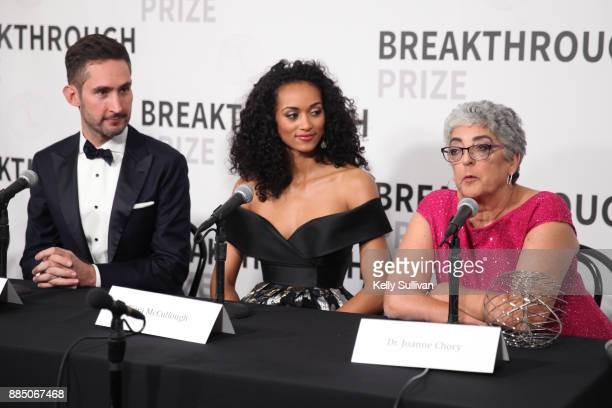 Entrepreneur Kevin Systrom physical scientist / Miss USA Kara McCullough and Breakthrough Prize in Life Sciences Laureate Joanne Chory attend the...