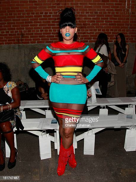 Entrepreneur Keyshia Kaoir attends Rolando Santana Spring 2013 at Eyebeam Studio on September 10 2012 in New York City