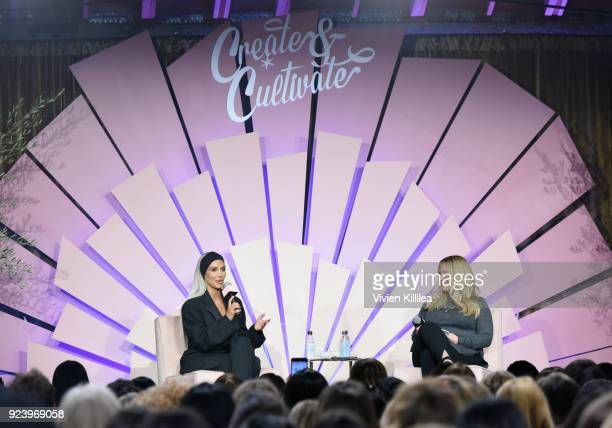 Entrepreneur Kim Kardashian West and CoFounder CoCEO Blended Strategy Group Allison Statter speak onstage at the Create Cultivate Los Angeles...