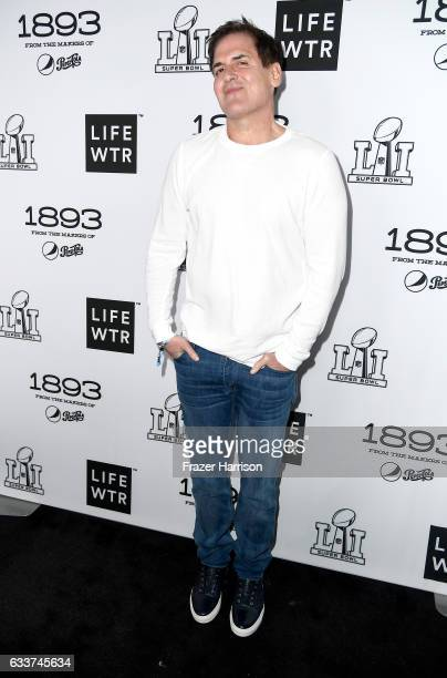Entrepreneur Mark Cuban attends LIFEWTR Art After Dark including 1893 at Club Nomadic during Super Bowl LI Weekend on February 3 2017 in Houston Texas