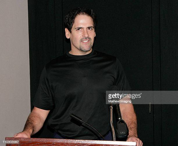 Entrepreneur Mark Cuban attends the Samsung Independent Platform Press Conference of 'Into the Wild' at the Directors Guild of America on September...