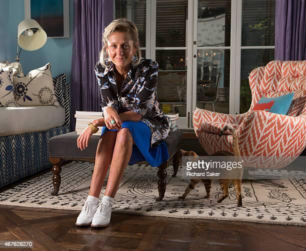 Entrepreneur Martha Lane Fox Brent Haberman is photographed for the Observer on January 7 2015 in London England