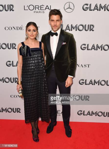 US Entrepreneur Olivia Palermo and husband model Johannes Huebl attend the 2019 Glamour Women Of The Year Awards at Alice Tully Hall Lincoln Center...