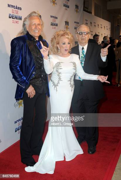 Entrepreneur Peter Nygard Country singer Tanya Tucker and host Norby Walters arrive for the Norby Walters' 27th Annual Night Of 100 Stars Black Tie...