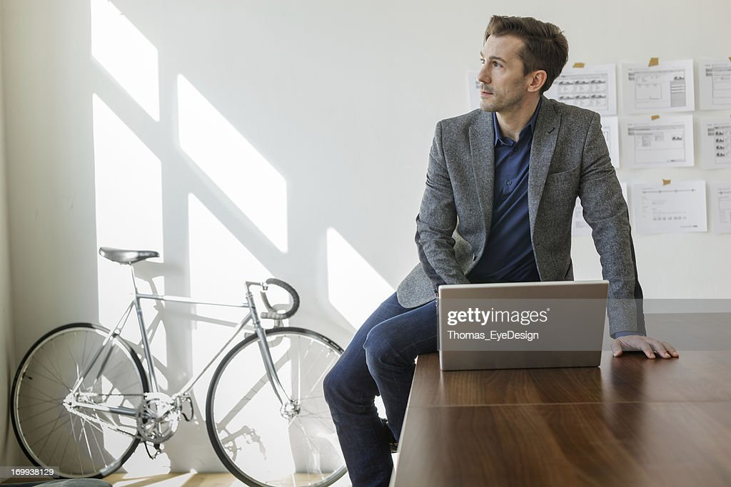 Entrepreneur Planning his new business : Stock Photo