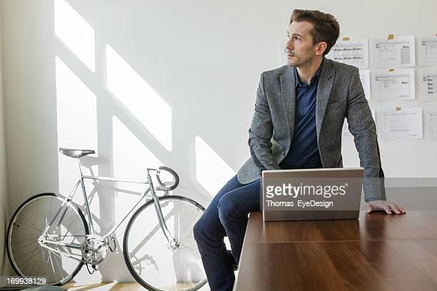 Entrepreneur Planning his new business